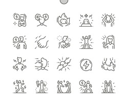 Rage Well-crafted Pixel Perfect Vector Thin Line Icons 30 2x Grid for Web Graphics and Apps. Simple Minimal Pictogram