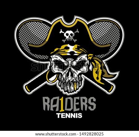 raiders tennis team design with