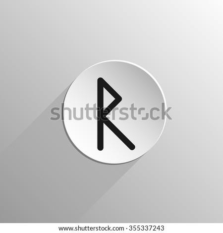 raido celtic alphabet icons