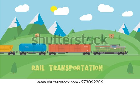rail transportation on summer