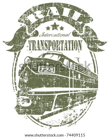 Rail transportation stamp