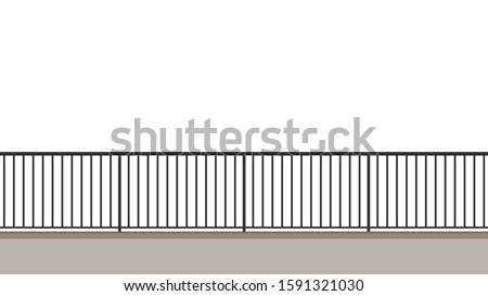 railing vector railing on
