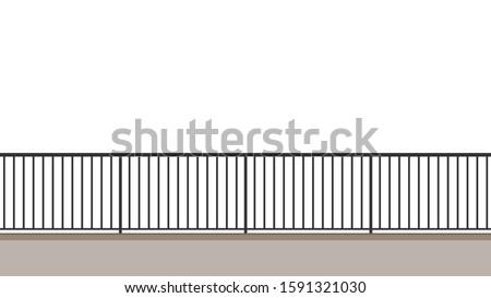 railing vector railing on