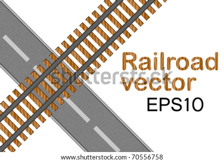 Railroad - stock vector