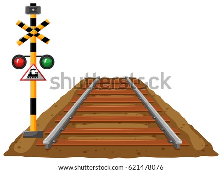 railroad and traffic light for