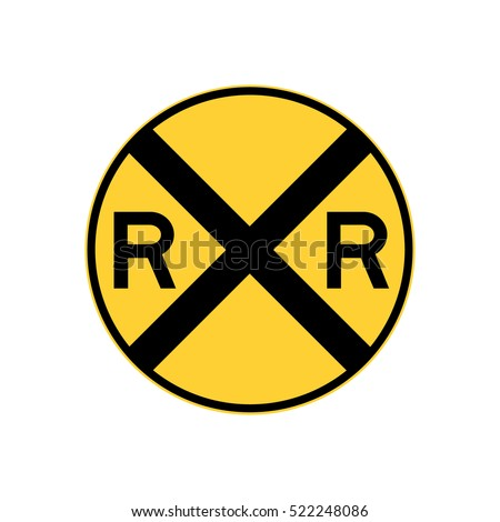 railroad crossing sign, U.S. railroad