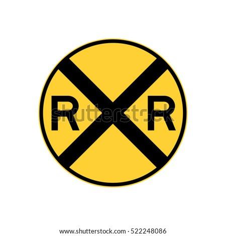 railroad crossing sign  u.s....