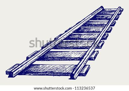 railroad doodle style