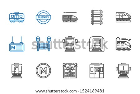 railroad icons set collection
