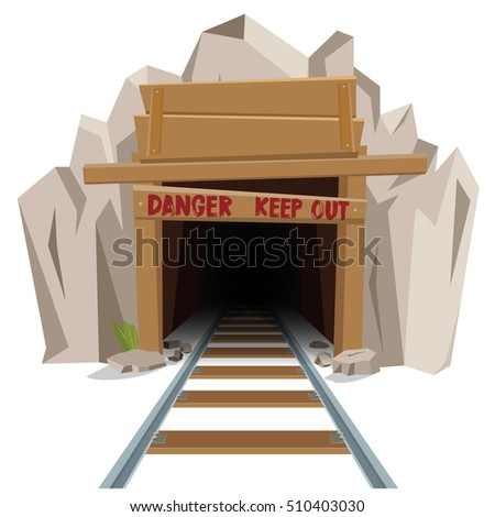 Railroad mine entrance tunnel