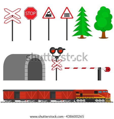 railroad traffic way and train