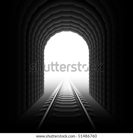 railroad tunnel detailed