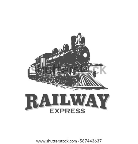 Railway Express Train Vintage Logo