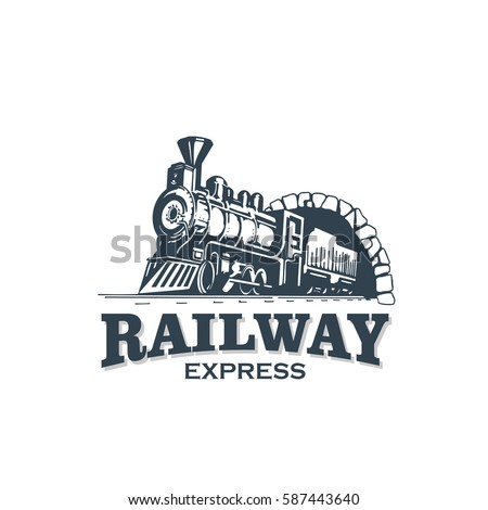 Railway Express Train Vintage Logo