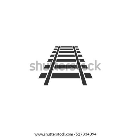 railway icon flat illustration
