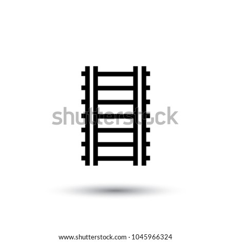Railway Icon In Line Style Vector Illustration Eps10