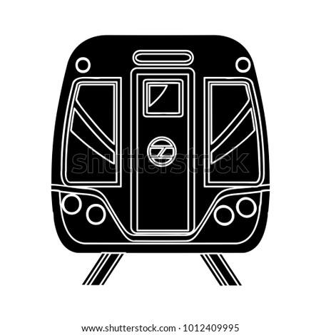 railway icon - vector subway