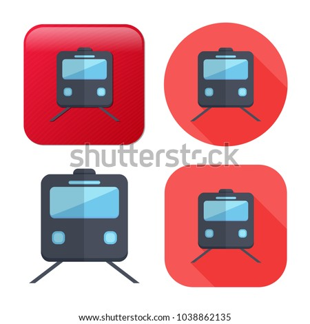 railway icon - vector train - rail station - transportation icon