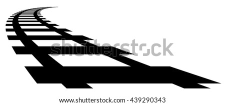 railway  railroad silhouettes
