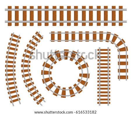 Railway set top icon for interiors Flat design style vector illustration.