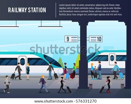 railway station flat