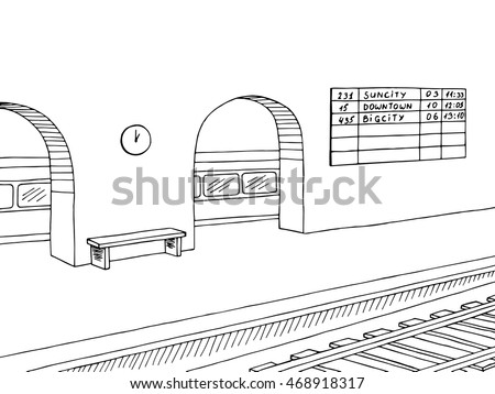 railway station platform train