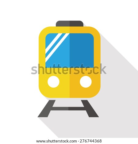 railway train flat icon with