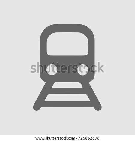 Railway train vector icon eps 10. Simple isolated pictogram.