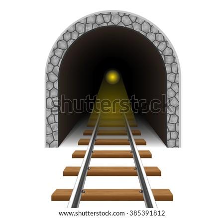 railway tunnel vector