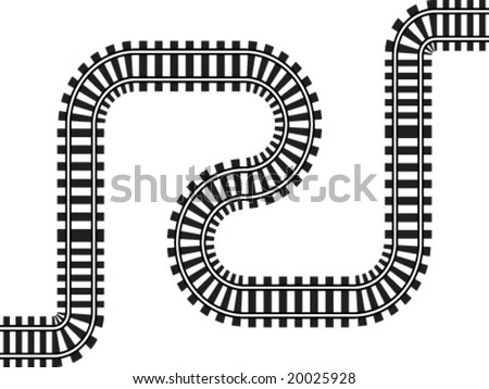 railway vector illustration