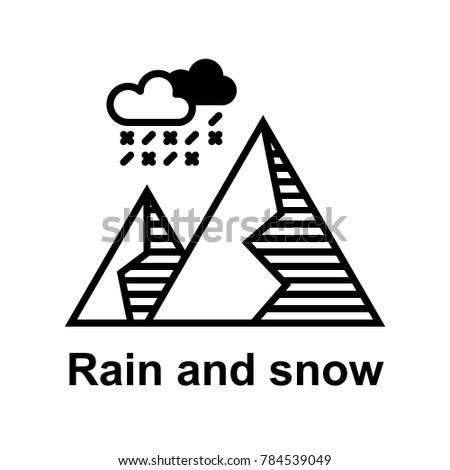rain and snow weather icon vector illustration