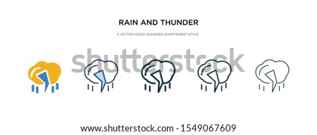 rain and thunder icon in