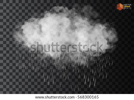 rain and white cloud isolated