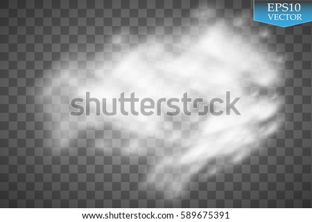 Rain and white cloud isolated on transparent background. Vector