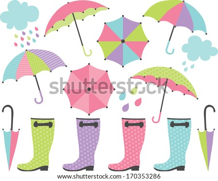 Rain Boots and Umbrellas (Girl)