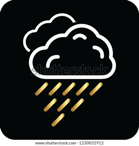 rain cloud icon for web and print