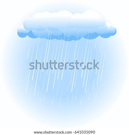 rain cloud raining on white