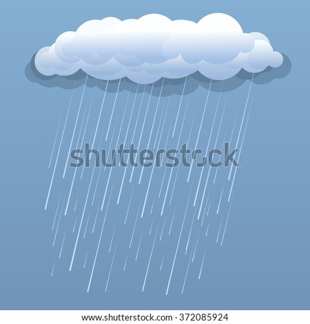 rain cloud vector blue