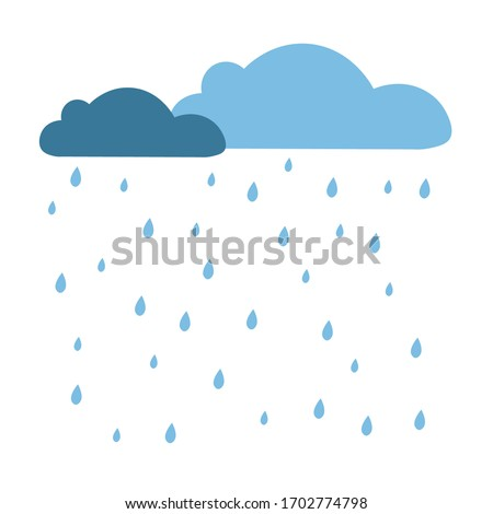 rain clouds and rain droplets