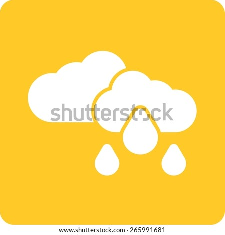 Rain, clouds, sky, cloudy icon vector image. Can also be used for weather, forecast, season, climate, meteorology. Suitable for web apps, mobile apps and print media.