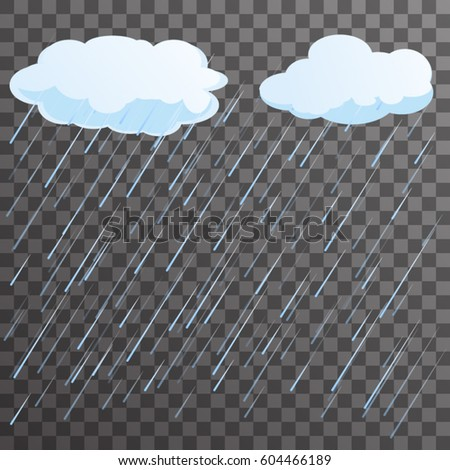 rain concept flat background