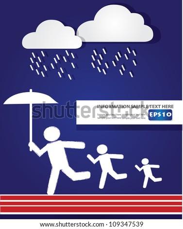 rain concept vector