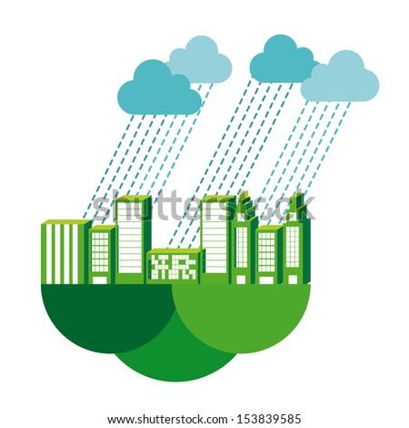 rain design over white background vector illustration
