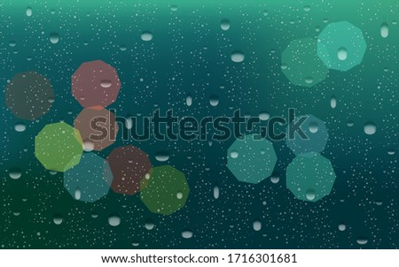 rain drops on window with