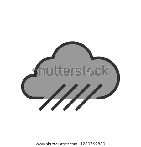 rain fall cloud two tone   icon