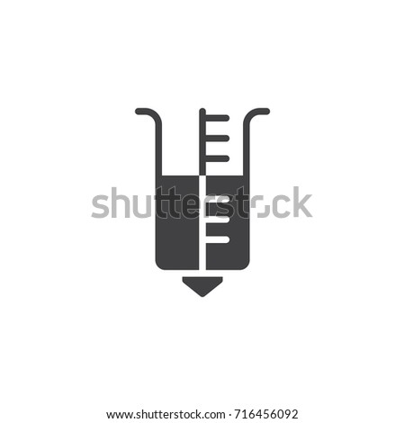 Rain gauge icon vector, filled flat sign, solid pictogram isolated on white. Symbol, logo illustration.