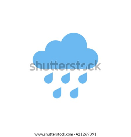 rain icon in trendy flat style