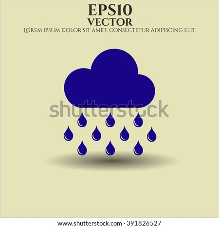 Rain icon or symbol