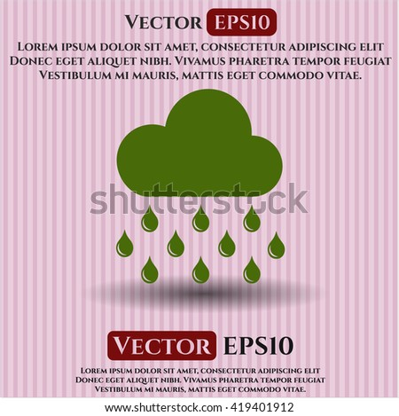 rain icon vector symbol flat eps jpg app web concept website