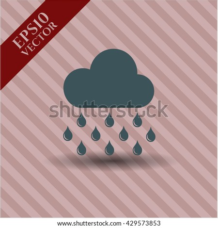rain icon vector symbol flat eps jpg app web concept website